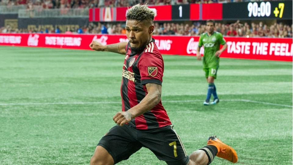 aecd12e98 Atlanta United striker Jose Martinez tied the MLS scoring record for a  single season with his 27th goal of the year on Sunday. The 25-year-old  Venezuelan ...